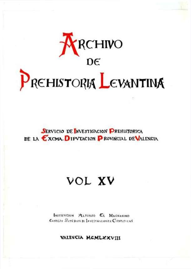 c989c2c79405 Archivo de Prehistoria Levantina XV