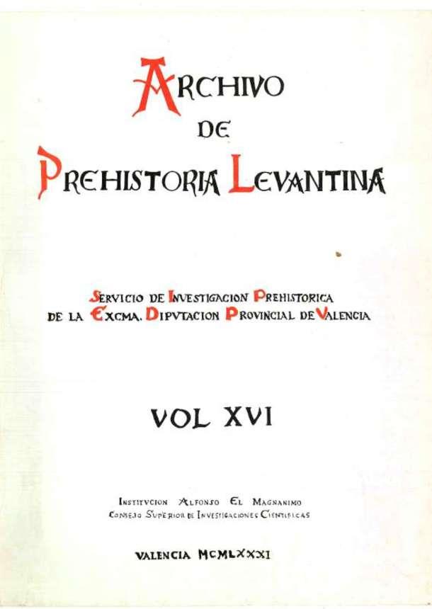 11a9dc63506b Archivo de Prehistoria Levantina XVI